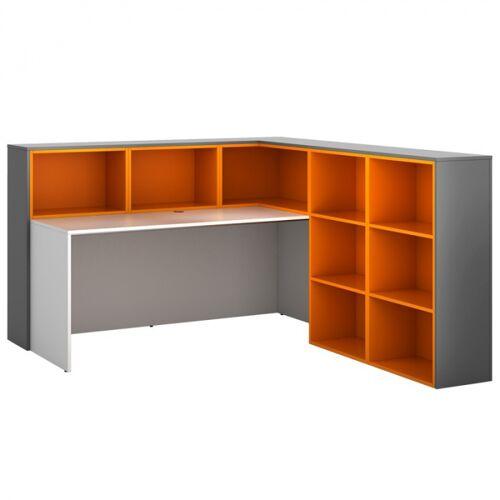 PLAN Zestaw l04, prawy, grafitowo/pomarańczowo/biały