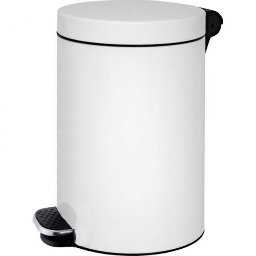 Alda Kosz na pedał 20l, płynne zamykanie, lakierowany biały
