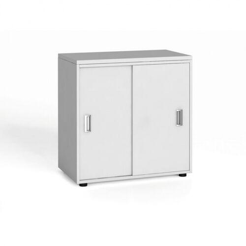 B2B Partner Szafa biurowa z przesuwnymi drzwiami, 740 x 800 x 420 mm, biały