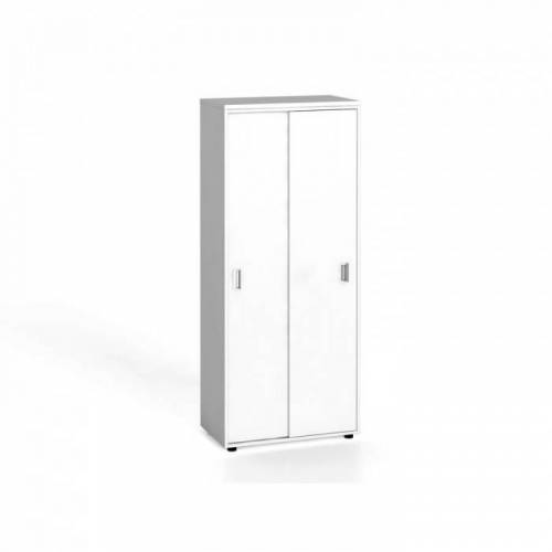 B2B Partner Szafa biurowa z przesuwnymi drzwiami, 1781 x 800 x 420 mm, biały