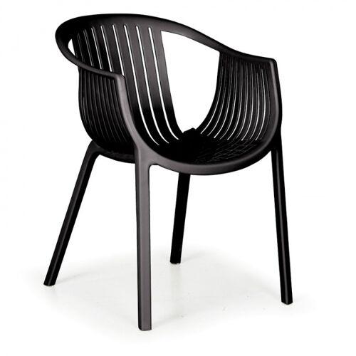 B2B Partner Fotel ogrodowy lounge, czarny, 4 szt.