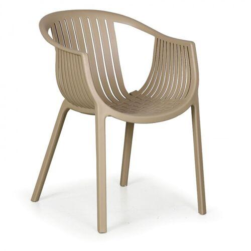 B2B Partner Fotel ogrodowy lounge, beżowy, 4 szt.