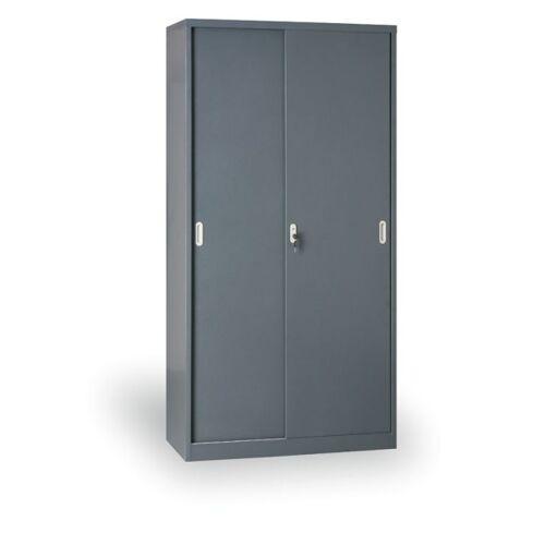 B2B Partner Metalowa szafa z przesuwnymi drzwiami, 1990 x 1200 x 450 mm,