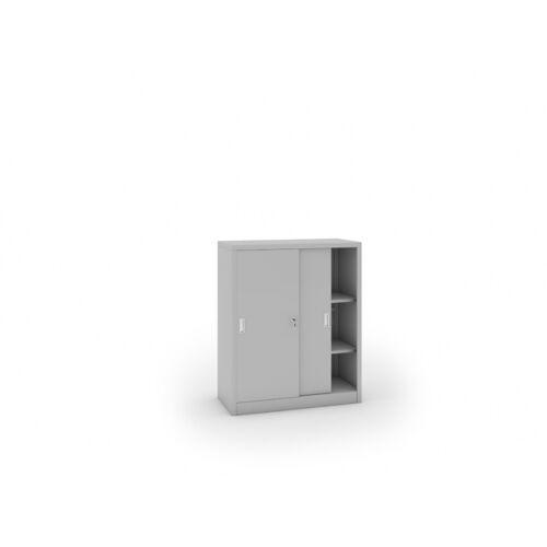 B2B Partner Metalowa szafa z przesuwnymi drzwiami, 1200 x 1000 x 450 mm,