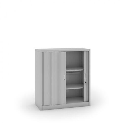 B2B Partner Szafa metalowa z żaluzjowymi drzwiami, 1200 x 1000 x 450 mm,