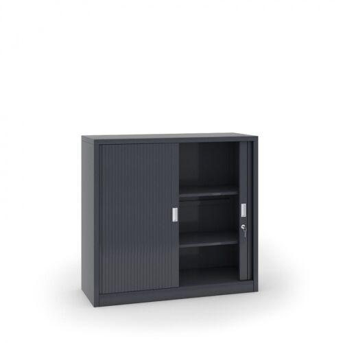 B2B Partner Szafa metalowa z żaluzjowymi drzwiami, 1200 x 1200 x 450 mm,