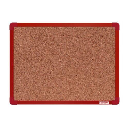 boardOK Tablica korkowa boardok, 60 x 45 cm, czerwona aluminiowa rama