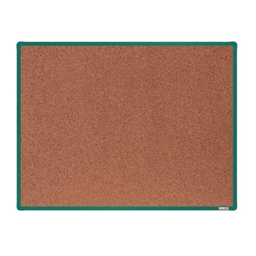 boardOK Tablica korkowa boardok, 120x90 cm, zielona aluminiowa rama