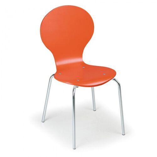 B2B Partner Krzesło drewniane orange, 4 szt