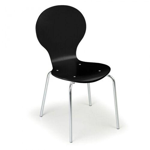 B2B Partner Krzesło drewniane black, 4 szt