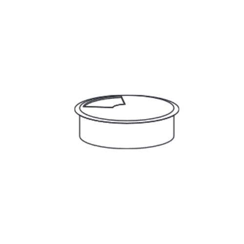 B2B Partner Przepust kablowy, średnica 80 mm, srebrny