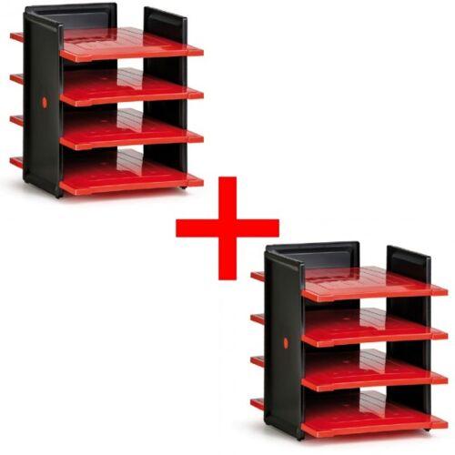 B2B Partner Zasobnik plastikowy na dokumenty, czarny/czerwony, 1+1 gratis