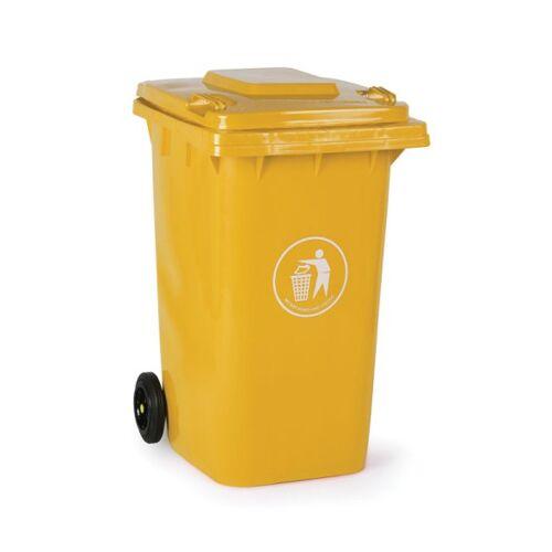 B2B Partner Plastikowy pojemnik na odpady 240 litrów, żółty