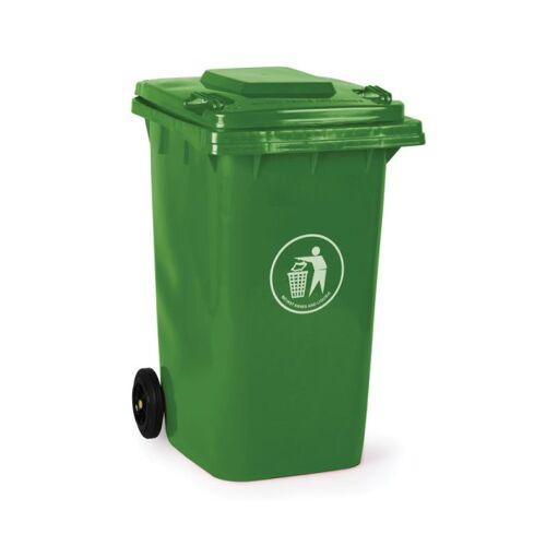 B2B Partner Plastikowy pojemnik na odpady 240 litrów, zielony