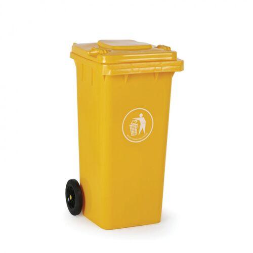 B2B Partner Plastikowy pojemnik na odpady 120 litrów, żółty
