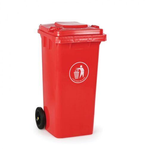 B2B Partner Plastikowy pojemnik na odpady 120 litrów, czerwony