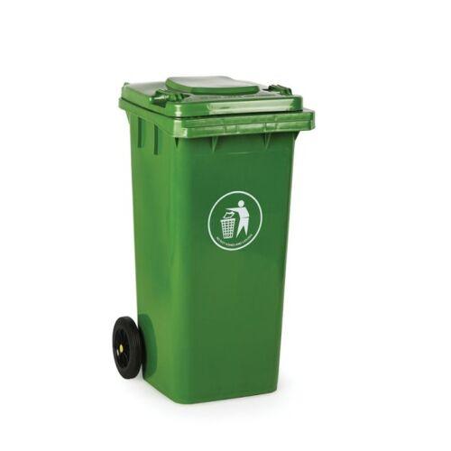 B2B Partner Plastikowy pojemnik na odpady 120 litrów, zielony