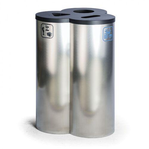 B2B Partner Kosz do segregacji śmieci, 90 l, ze stali nierdzewnej
