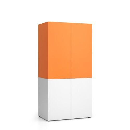 PLAN Szafka kuchenna nika 1000 x 600 x 2000 mm, pomarańczowy