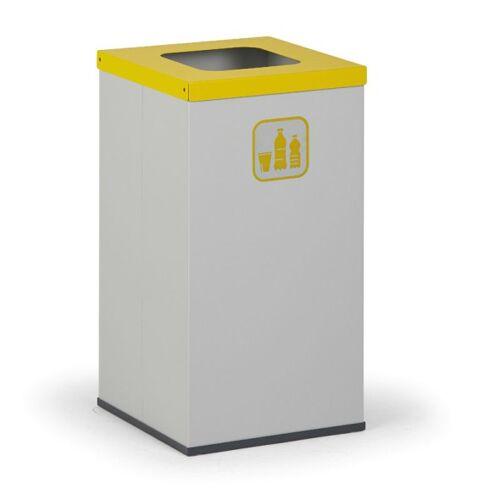 B2B Partner Kosz do segregacji śmieci z wewnętrznym pojemnikiem 42 l, szary/żółty