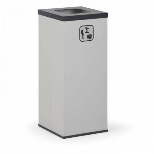 B2B Partner Kosz do segregacji śmieci z wewnętrznym pojemnikiem 50 l, szary/czarny