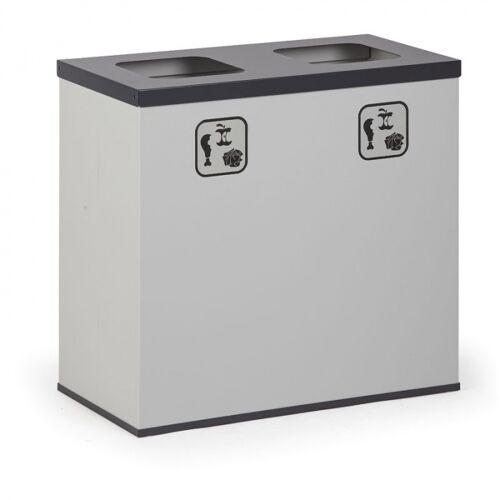 B2B Partner Kosz do segregacji śmieci 2x 42 l z wewnętrznym pojemnikiem