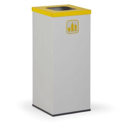 B2B Partner Kosz do segregacji śmieci z wewnętrznym pojemnikiem 50 l, szary/żółty