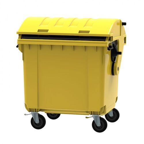 B2B Partner Plastikowy kontener na odpady cle 1100, żółty