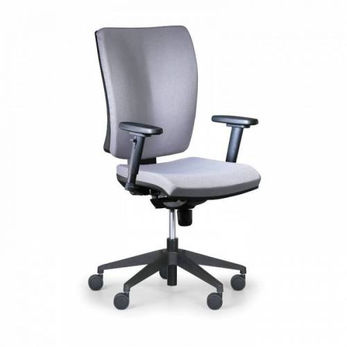 Antares Krzesło biurowe leon plus, szary - z podłokietnikami