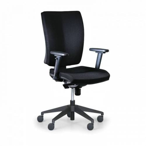 Antares Krzesło biurowe leon plus, czarny - z podłokietnikami