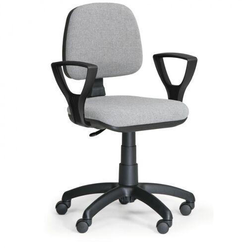 B2B Partner Biurowe krzesło milano z podłokietnikami - szare