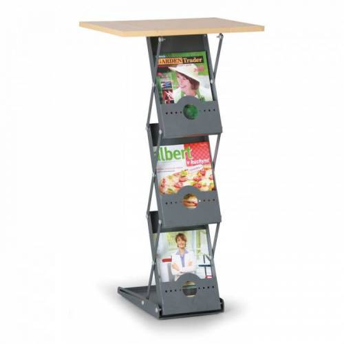 B2B Partner Składany stojak na ulotki, 3x a4
