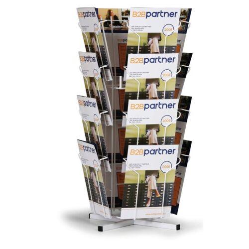 B2B Partner Obrotowy stojak stołowy na ulotki, 16x a4