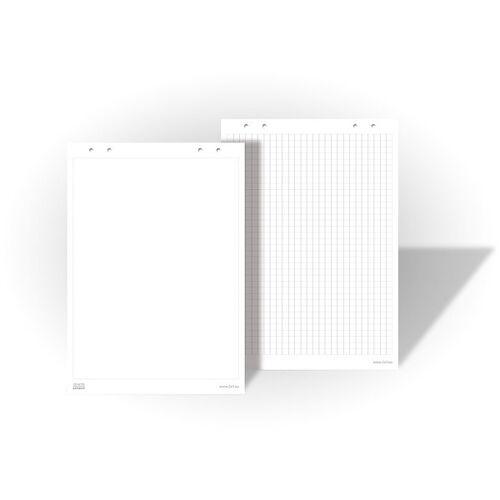 Bi-Office Papierowe bloki do flipchartów, kratkowe, opakowanie 5x 25 arkuszy