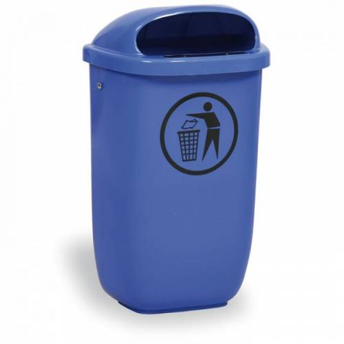 B2B Partner Zewnętrzny kosz na odpady na słupek dino, niebieski