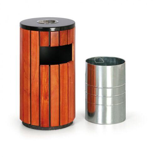 B2B Partner Kosz na śmieci z popielniczką na zewnątrz