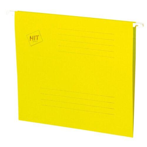 HIT Office Teczki zawieszane a4, żółte, 50 szt.