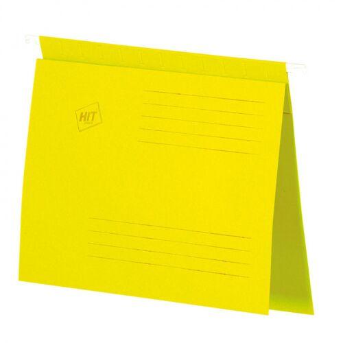 HIT Office Skoroszyt zawieszany a4, żółty, 50 szt.