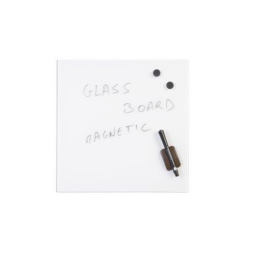 Bi-Office Szklana tablica do pisania, 48x48 cm, biała