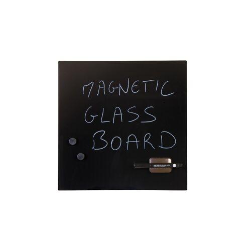 Bi-Office Szklana tablica do pisania, 48x48 cm, czarna