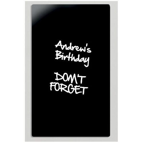 Bi-Office Szklana tablica do pisania, 78x48 cmm, czarna