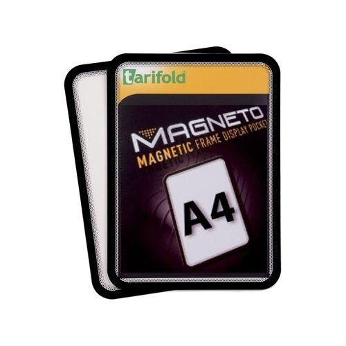 TARIFOLD Kieszeń magnetyczna a4, 2 szt., czarna