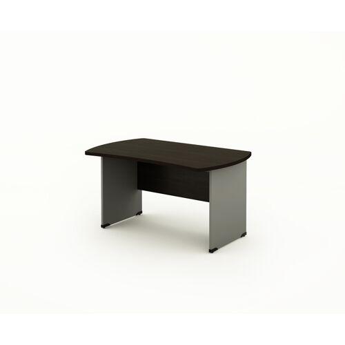B2B Partner Biurko bern, drewniane nogi, 1000 x 850 mm, wzór wenge