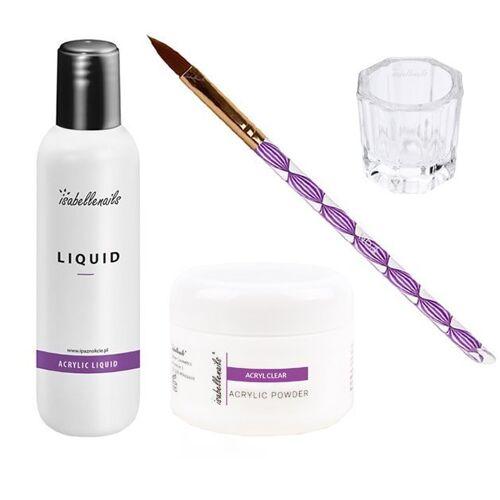 IsabelleNails Zestaw startowy akrylowy akryl 15 ml + liquid 100 ml