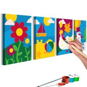 SELSEY Zestaw do malowania Pory roku