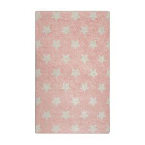 SELSEY Dywan do pokoju dziecięcego Dinkley Yildiz różowy 100x160 cm