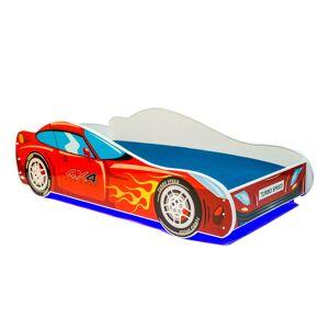 SELSEY Łóżko dziecięce Skalat 140x70 cm w kształcie samochodu z LED