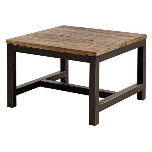 SELSEY Stolik kawowy Maksimir 60x60 cm z wiązowego drewna