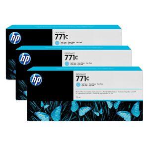 HP 771C Light Cyan Ink Cartridge 3-Pack B6Y36A