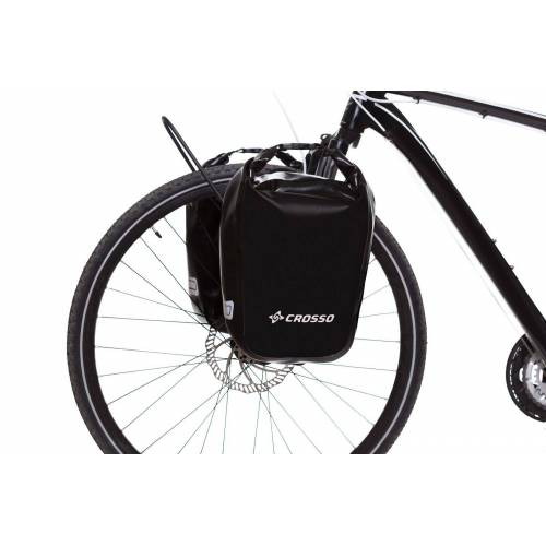 CROSSO Sakwy rowerowe DRY SMALL 30l - Click system-Żółty